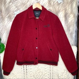 Obey Propaganda Fuzzy Wool Button Down Jacket
